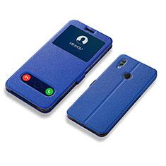 Coque Portefeuille Livre Cuir Etui Clapet L01 pour Huawei Honor 10 Lite Bleu