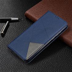 Coque Portefeuille Livre Cuir Etui Clapet L01 pour Huawei Honor 9A Bleu