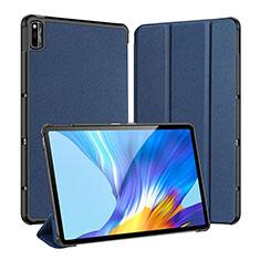 Coque Portefeuille Livre Cuir Etui Clapet L01 pour Huawei Honor Pad V6 10.4 Bleu