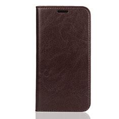 Coque Portefeuille Livre Cuir Etui Clapet L01 pour Huawei Honor Play 8 Marron