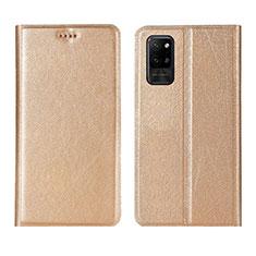 Coque Portefeuille Livre Cuir Etui Clapet L01 pour Huawei Honor Play4 Pro 5G Or