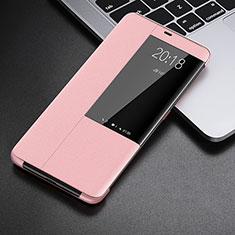 Coque Portefeuille Livre Cuir Etui Clapet L01 pour Huawei Mate 20 Pro Or Rose