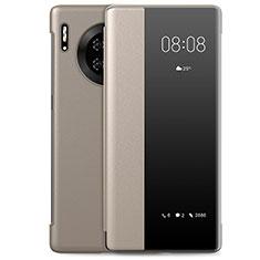 Coque Portefeuille Livre Cuir Etui Clapet L01 pour Huawei Mate 30 Or
