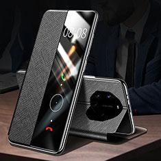 Coque Portefeuille Livre Cuir Etui Clapet L01 pour Huawei Mate 40 RS Noir