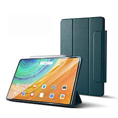 Coque Portefeuille Livre Cuir Etui Clapet L01 pour Huawei MatePad Pro 5G 10.8 Vert Nuit