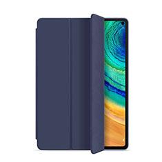 Coque Portefeuille Livre Cuir Etui Clapet L01 pour Huawei MatePad Pro Bleu