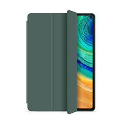 Coque Portefeuille Livre Cuir Etui Clapet L01 pour Huawei MatePad Pro Vert