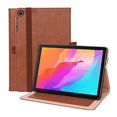 Coque Portefeuille Livre Cuir Etui Clapet L01 pour Huawei MatePad T 10s 10.1 Marron