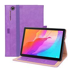 Coque Portefeuille Livre Cuir Etui Clapet L01 pour Huawei MatePad T 10s 10.1 Violet