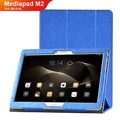 Coque Portefeuille Livre Cuir Etui Clapet L01 pour Huawei MediaPad M2 10.0 M2-A10L Bleu