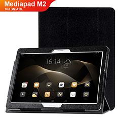 Coque Portefeuille Livre Cuir Etui Clapet L01 pour Huawei MediaPad M2 10.0 M2-A10L Noir