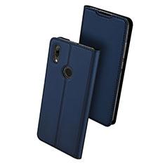 Coque Portefeuille Livre Cuir Etui Clapet L01 pour Huawei P Smart (2019) Bleu