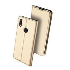 Coque Portefeuille Livre Cuir Etui Clapet L01 pour Huawei P Smart (2019) Or