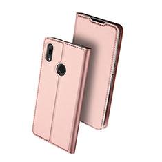 Coque Portefeuille Livre Cuir Etui Clapet L01 pour Huawei P Smart (2019) Or Rose