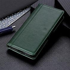 Coque Portefeuille Livre Cuir Etui Clapet L01 pour Huawei Y7a Vert