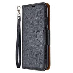 Coque Portefeuille Livre Cuir Etui Clapet L01 pour Huawei Y7p Noir