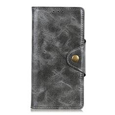 Coque Portefeuille Livre Cuir Etui Clapet L01 pour Huawei Y8p Gris