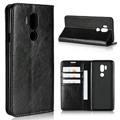 Coque Portefeuille Livre Cuir Etui Clapet L01 pour LG G7 Noir
