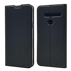 Coque Portefeuille Livre Cuir Etui Clapet L01 pour LG G8 ThinQ Noir