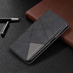 Coque Portefeuille Livre Cuir Etui Clapet L01 pour LG G8X ThinQ Noir