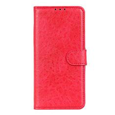 Coque Portefeuille Livre Cuir Etui Clapet L01 pour LG K51 Rouge