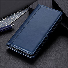 Coque Portefeuille Livre Cuir Etui Clapet L01 pour LG K52 Bleu