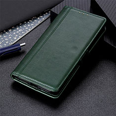 Coque Portefeuille Livre Cuir Etui Clapet L01 pour LG K52 Vert