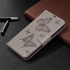 Coque Portefeuille Livre Cuir Etui Clapet L01 pour LG K61 Gris