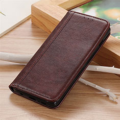 Coque Portefeuille Livre Cuir Etui Clapet L01 pour LG K92 5G Marron