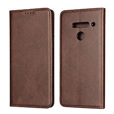 Coque Portefeuille Livre Cuir Etui Clapet L01 pour LG V50 ThinQ 5G Marron