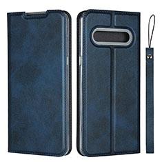 Coque Portefeuille Livre Cuir Etui Clapet L01 pour LG V60 ThinQ 5G Bleu