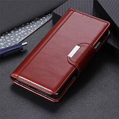 Coque Portefeuille Livre Cuir Etui Clapet L01 pour LG Velvet 5G Marron