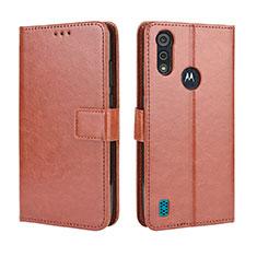 Coque Portefeuille Livre Cuir Etui Clapet L01 pour Motorola Moto E6s (2020) Marron