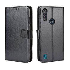 Coque Portefeuille Livre Cuir Etui Clapet L01 pour Motorola Moto E6s (2020) Noir