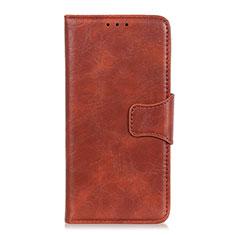 Coque Portefeuille Livre Cuir Etui Clapet L01 pour Motorola Moto Edge Marron