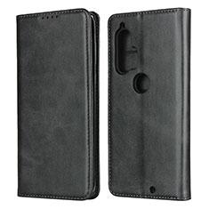 Coque Portefeuille Livre Cuir Etui Clapet L01 pour Motorola Moto Edge Plus Noir