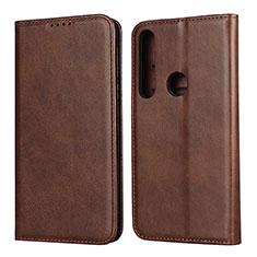 Coque Portefeuille Livre Cuir Etui Clapet L01 pour Motorola Moto G8 Play Marron