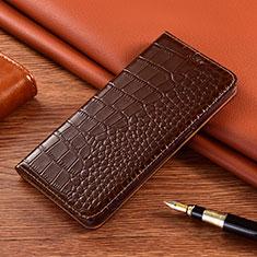 Coque Portefeuille Livre Cuir Etui Clapet L01 pour Motorola Moto G9 Play Marron