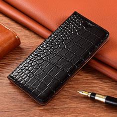 Coque Portefeuille Livre Cuir Etui Clapet L01 pour Motorola Moto G9 Play Noir