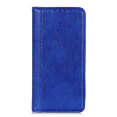 Coque Portefeuille Livre Cuir Etui Clapet L01 pour Motorola Moto G9 Plus Bleu