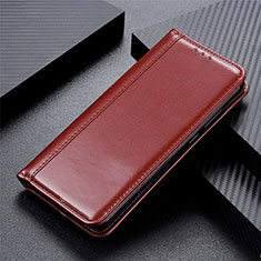 Coque Portefeuille Livre Cuir Etui Clapet L01 pour Motorola Moto One Fusion Marron