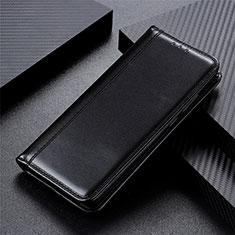 Coque Portefeuille Livre Cuir Etui Clapet L01 pour Motorola Moto One Fusion Noir
