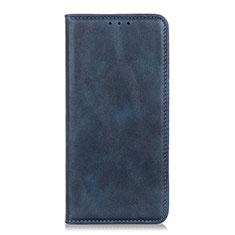 Coque Portefeuille Livre Cuir Etui Clapet L01 pour Motorola Moto One Fusion Plus Bleu