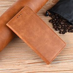 Coque Portefeuille Livre Cuir Etui Clapet L01 pour Motorola Moto One Zoom Marron