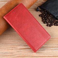 Coque Portefeuille Livre Cuir Etui Clapet L01 pour Motorola Moto One Zoom Rouge