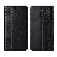 Coque Portefeuille Livre Cuir Etui Clapet L01 pour Nokia 1.3 Noir