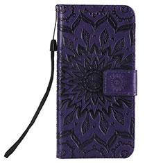 Coque Portefeuille Livre Cuir Etui Clapet L01 pour Nokia 2.3 Violet