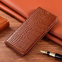 Coque Portefeuille Livre Cuir Etui Clapet L01 pour Nokia 2.4 Marron