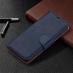 Coque Portefeuille Livre Cuir Etui Clapet L01 pour Nokia 3.4 Bleu