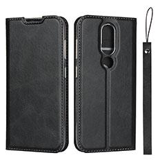 Coque Portefeuille Livre Cuir Etui Clapet L01 pour Nokia 4.2 Noir